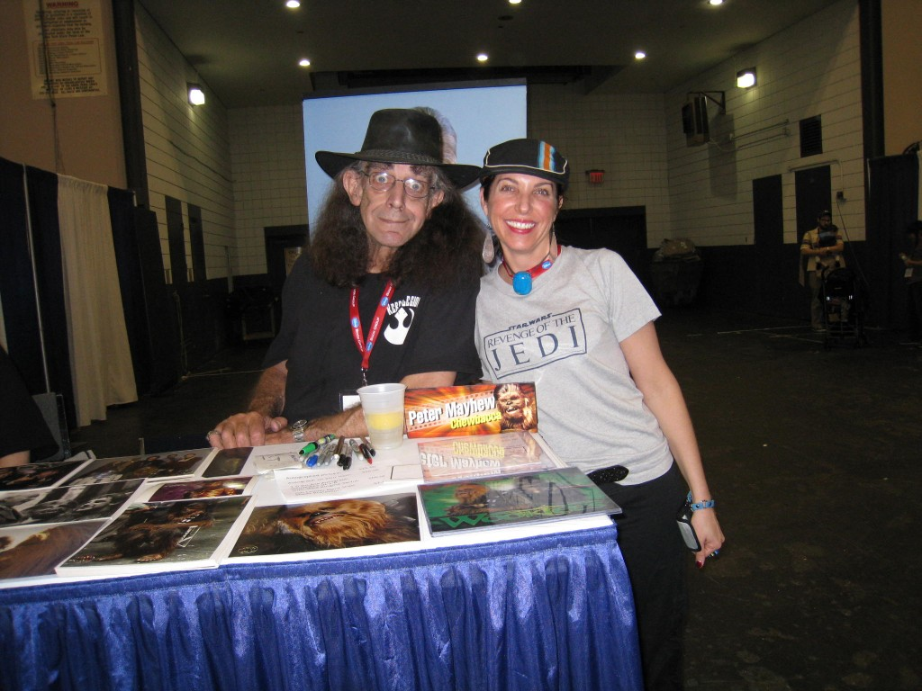 Chewbacca aka The Wookie and Peter Mayhew